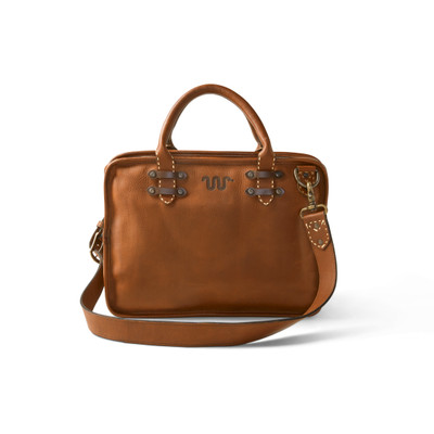 SADDLE STITCH LEATHER BRIEFCASE